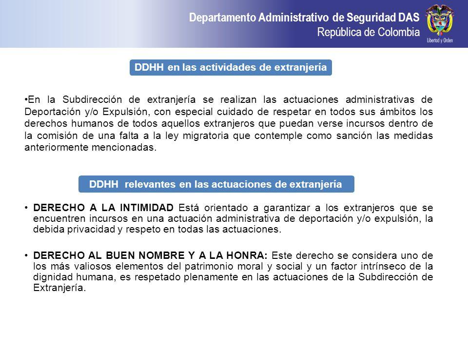 DDHH en las actividades de extranjería
