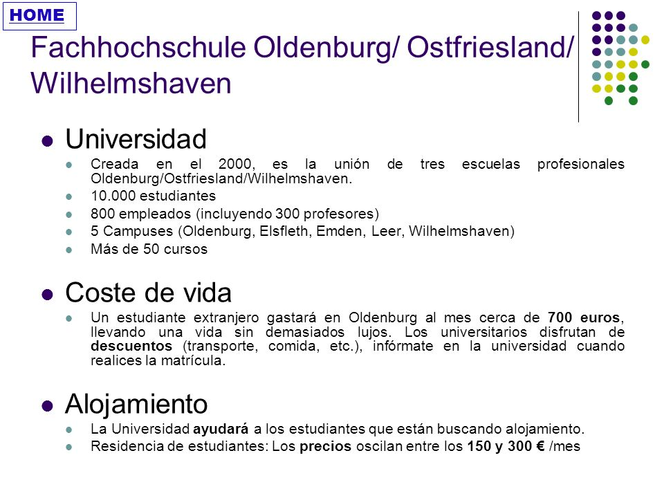 Fachhochschule Oldenburg/ Ostfriesland/ Wilhelmshaven