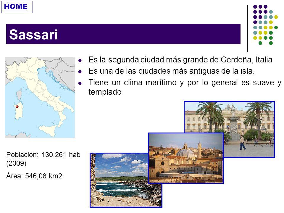 Sassari Es la segunda ciudad más grande de Cerdeña, Italia