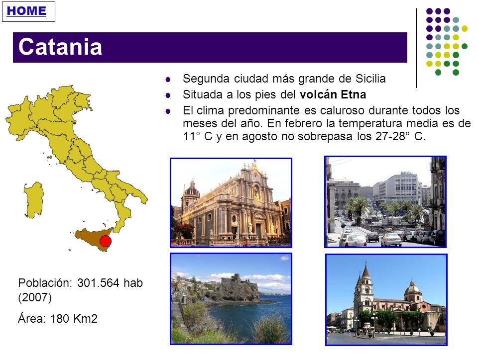 Catania HOME Segunda ciudad más grande de Sicilia