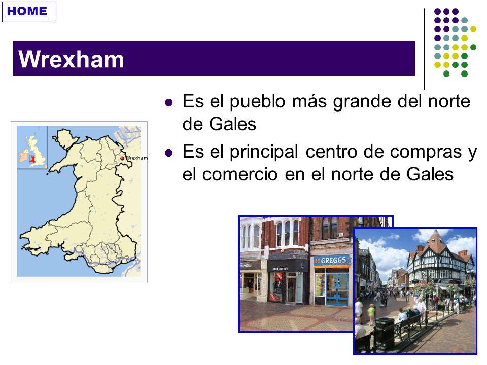 Wrexham Es el pueblo más grande del norte de Gales