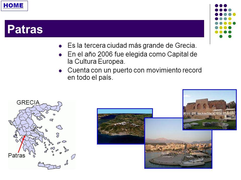 Patras Es la tercera ciudad más grande de Grecia.