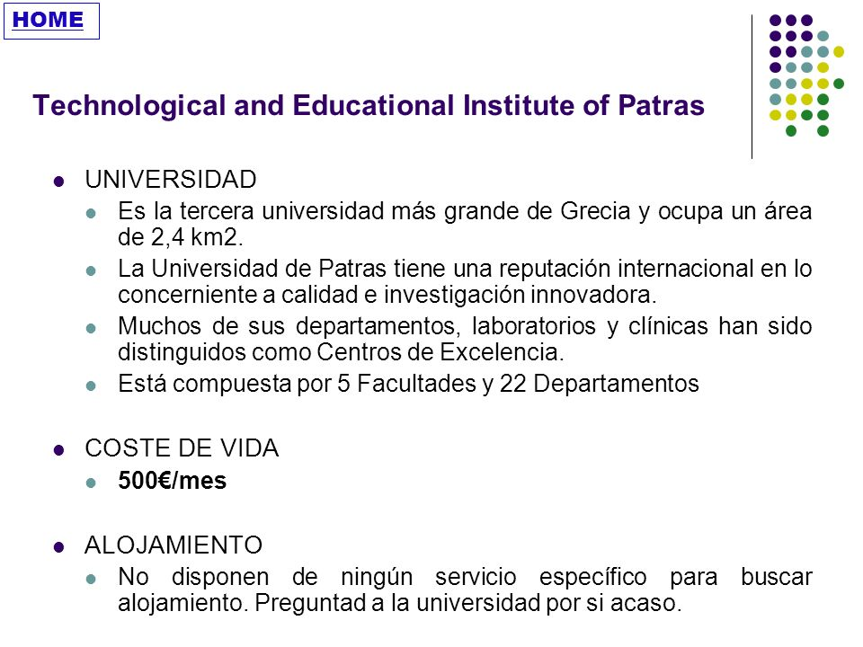 Technological and Educational Institute of Patras