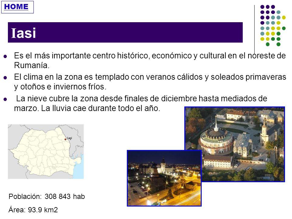 HOME Iasi. Es el más importante centro histórico, económico y cultural en el noreste de Rumanía.