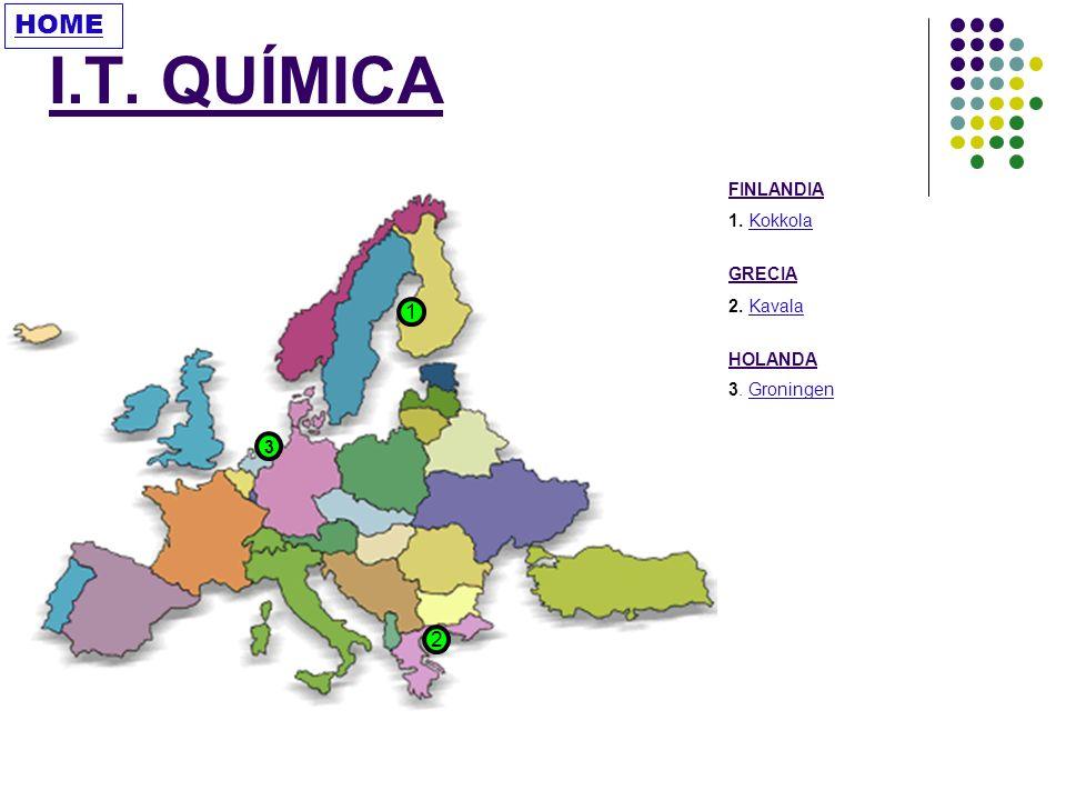 I.T. QUÍMICA HOME 1 2 FINLANDIA 1. Kokkola GRECIA 2. Kavala HOLANDA