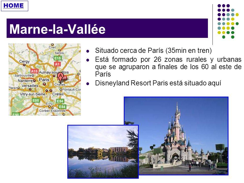 Marne-la-Vallée Situado cerca de París (35min en tren)