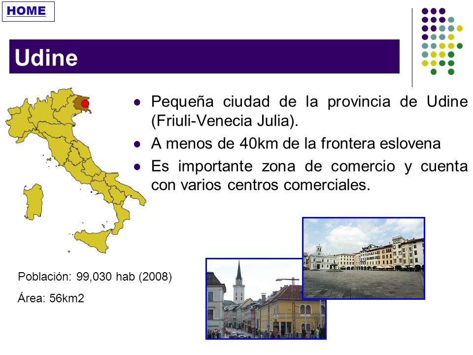 Udine Pequeña ciudad de la provincia de Udine (Friuli-Venecia Julia).