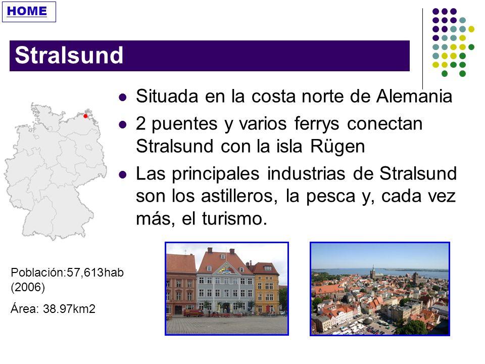 Stralsund Situada en la costa norte de Alemania