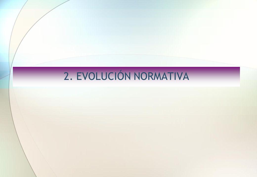 2. EVOLUCIÓN NORMATIVA