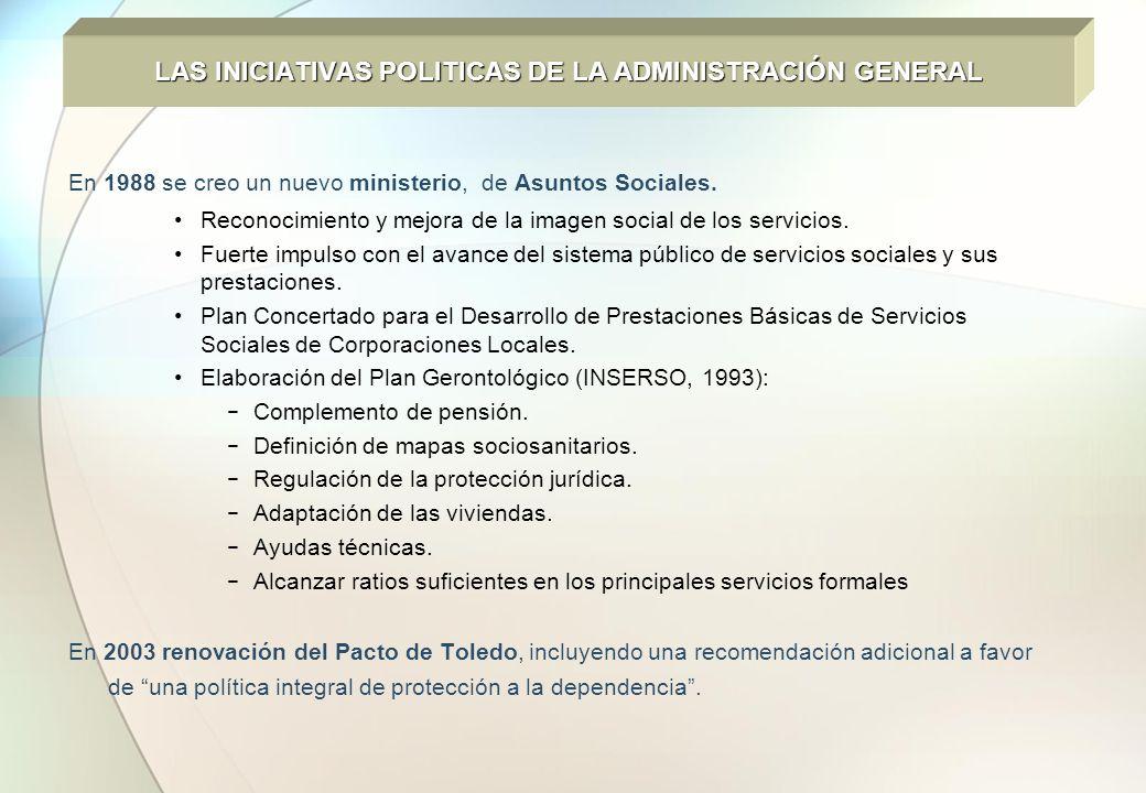 LAS INICIATIVAS POLITICAS DE LA ADMINISTRACIÓN GENERAL