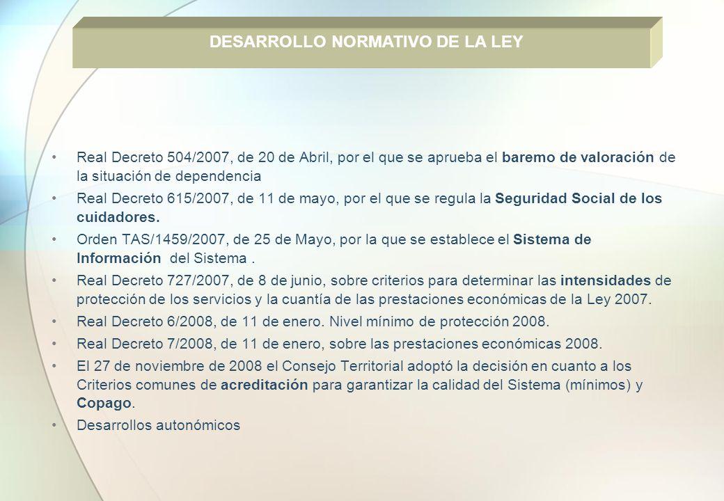 DESARROLLO NORMATIVO DE LA LEY