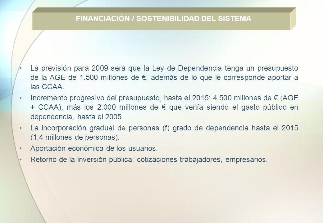 FINANCIACIÓN / SOSTENIBILIDAD DEL SISTEMA