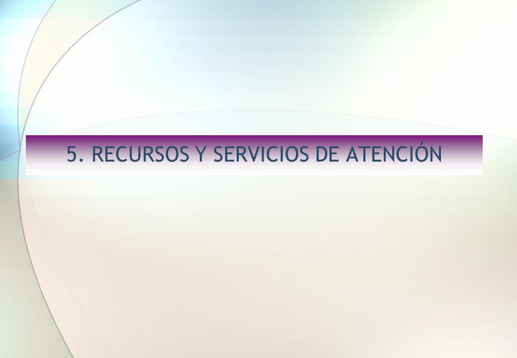 5. RECURSOS Y SERVICIOS DE ATENCIÓN