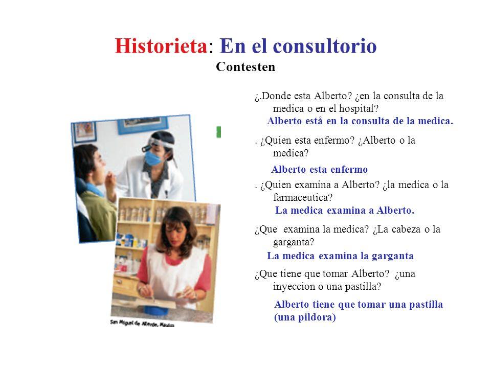 Historieta: En el consultorio Contesten