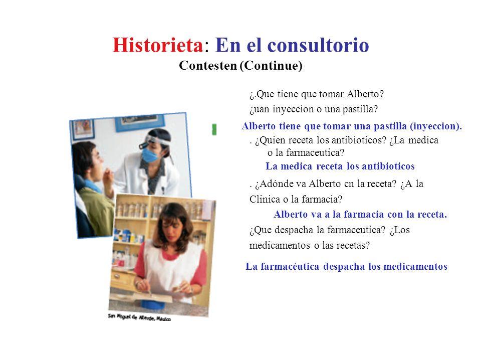 Historieta: En el consultorio Contesten (Continue)