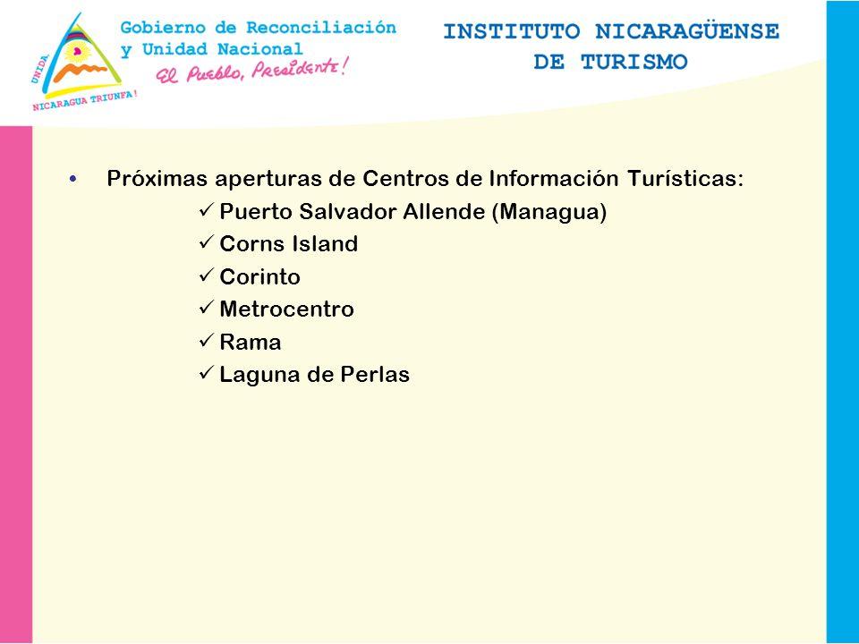 Próximas aperturas de Centros de Información Turísticas: