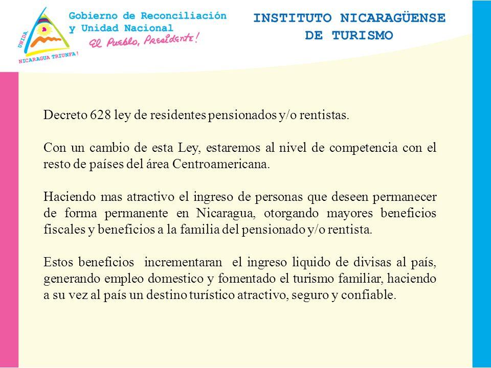 Decreto 628 ley de residentes pensionados y/o rentistas.