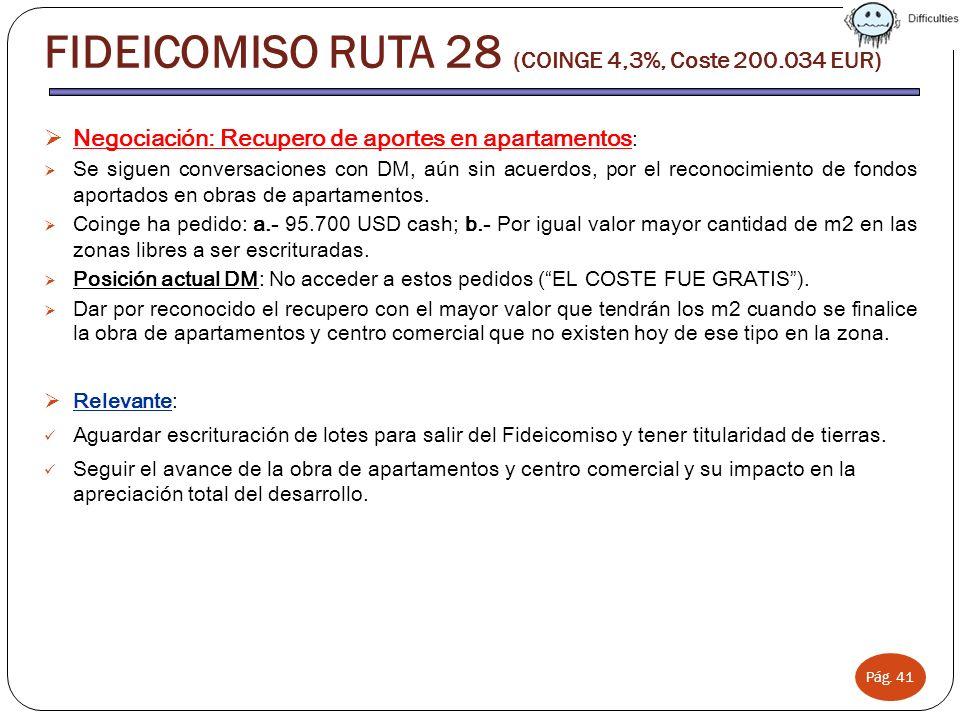 FIDEICOMISO RUTA 28 (COINGE 4,3%, Coste 200.034 EUR)