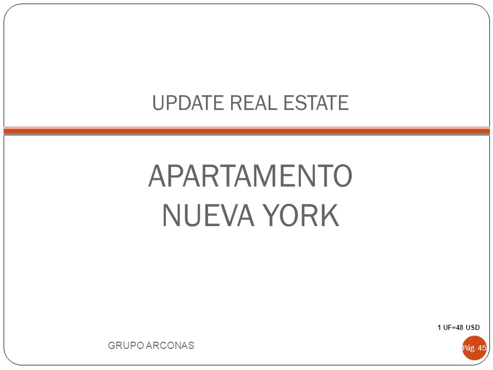 UPDATE REAL ESTATE APARTAMENTO NUEVA YORK