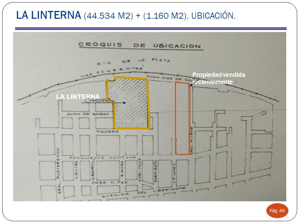 LA LINTERNA (44.534 M2) + (1.160 M2). UBICACIÓN.