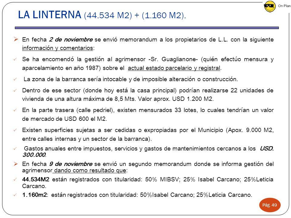 LA LINTERNA (44.534 M2) + (1.160 M2).