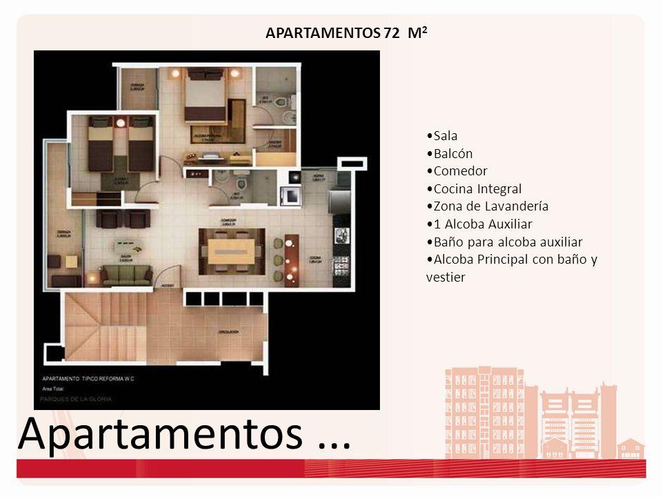 Apartamentos ... APARTAMENTOS 72 M2 Sala Balcón Comedor