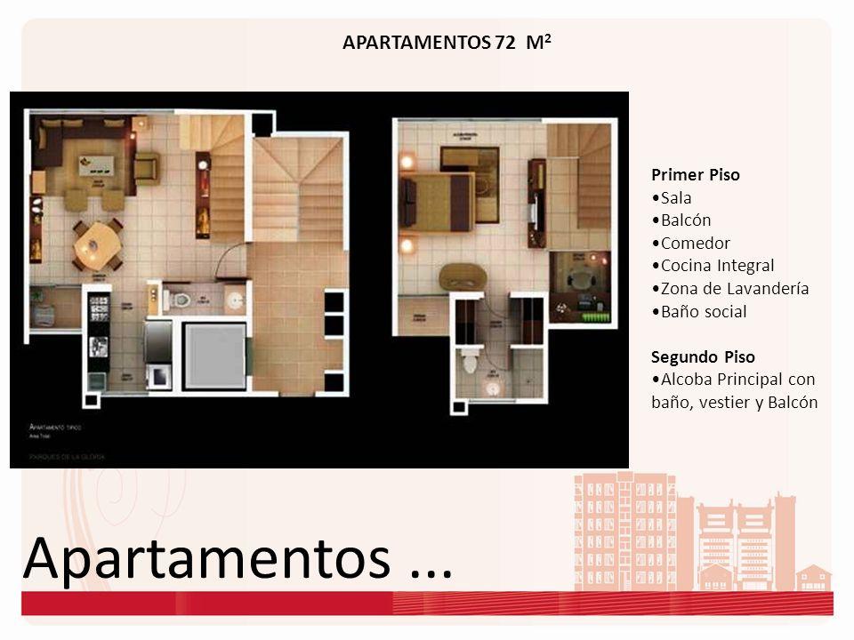 Apartamentos ... APARTAMENTOS 72 M2 Primer Piso Sala Balcón Comedor
