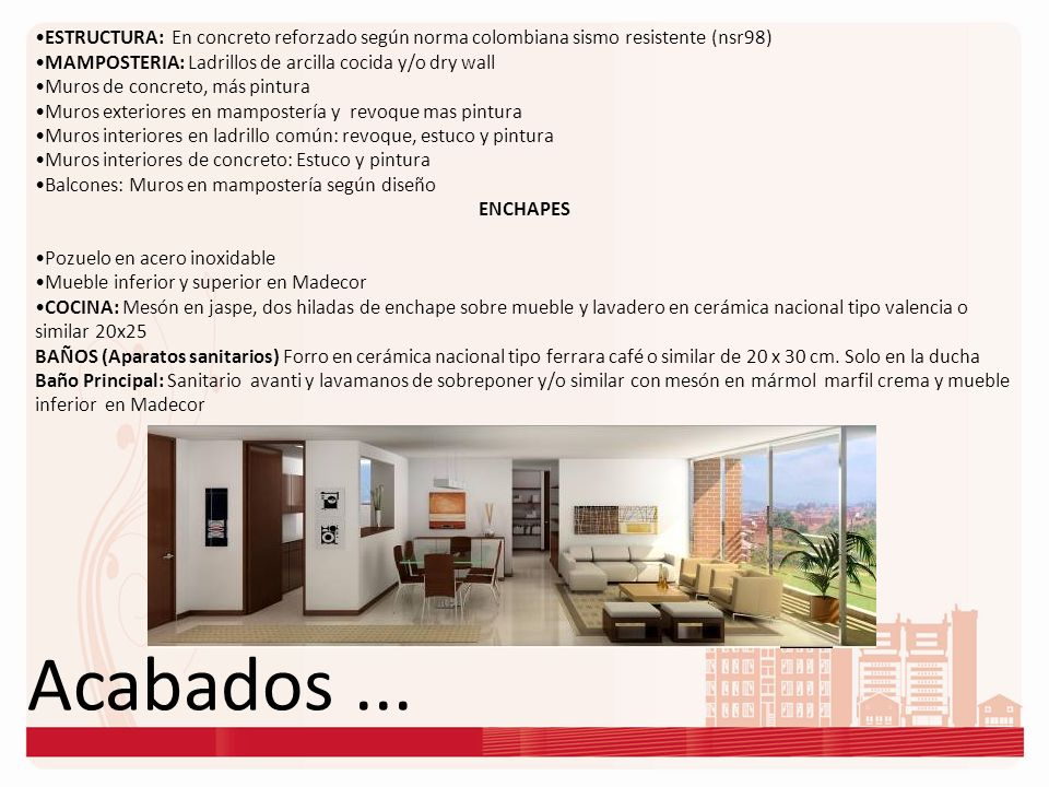 ESTRUCTURA: En concreto reforzado según norma colombiana sismo resistente (nsr98)