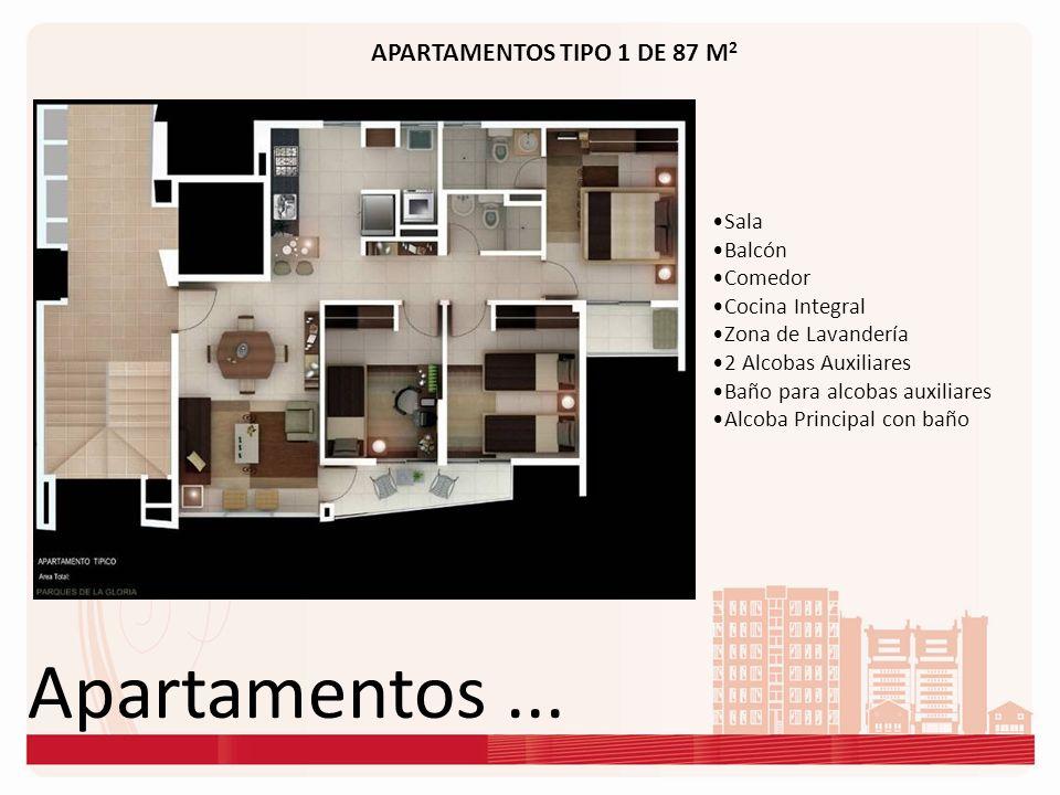 Apartamentos ... APARTAMENTOS TIPO 1 DE 87 M2 Sala Balcón Comedor
