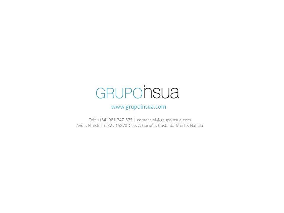www.grupoinsua.com Telf. +(34) 981 747 575 | comercial@grupoinsua.com