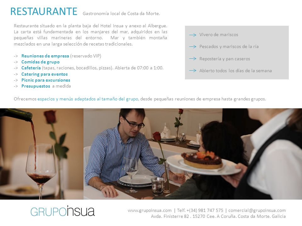 RESTAURANTE 60€ Gastronomía local de Costa da Morte.