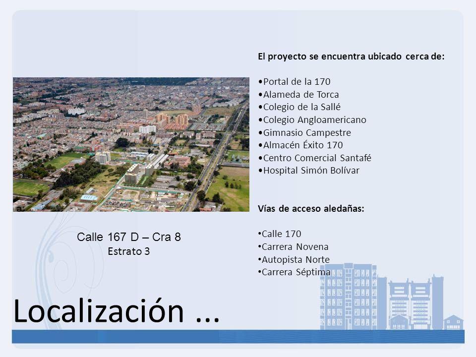 Localización ... Calle 167 D – Cra 8 Estrato 3
