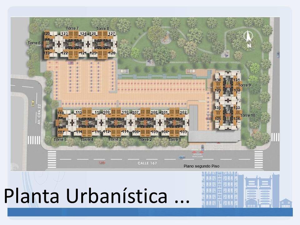 Planta Urbanística ... Torre 7 Torre 8 120 123 124 128 127 Torre 6 119