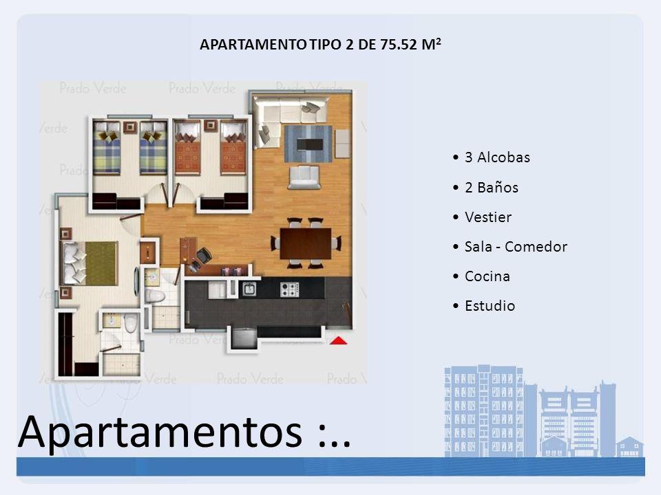 Apartamentos :.. APARTAMENTO TIPO 2 DE 75.52 M2 3 Alcobas 2 Baños
