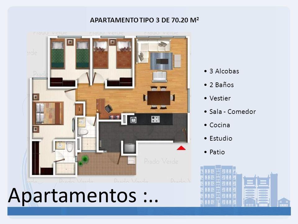 Apartamentos :.. APARTAMENTO TIPO 3 DE 70.20 M2 3 Alcobas 2 Baños