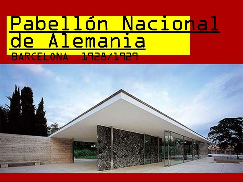 Pabellón Nacional de Alemania BARCELONA 1928/1929