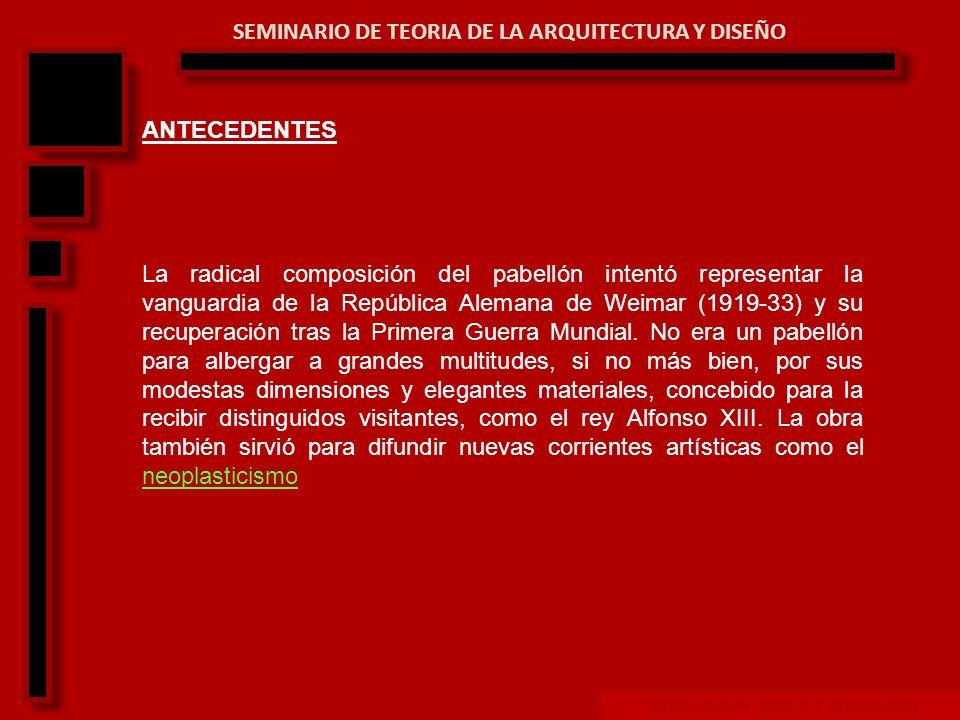 SEMINARIO DE TEORIA Y DISEÑO ARQ