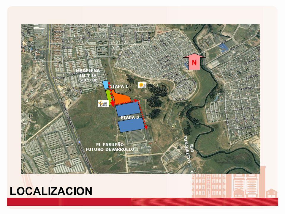 LOCALIZACION N MADELENA III Y IV SECTOR ETAPA 1 ETAPA 2 RIO TUNJUELITO
