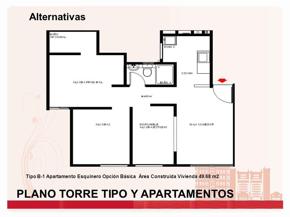 PLANO TORRE TIPO Y APARTAMENTOS