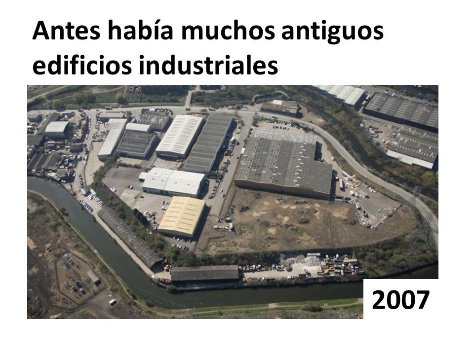 Antes había muchos antiguos edificios industriales