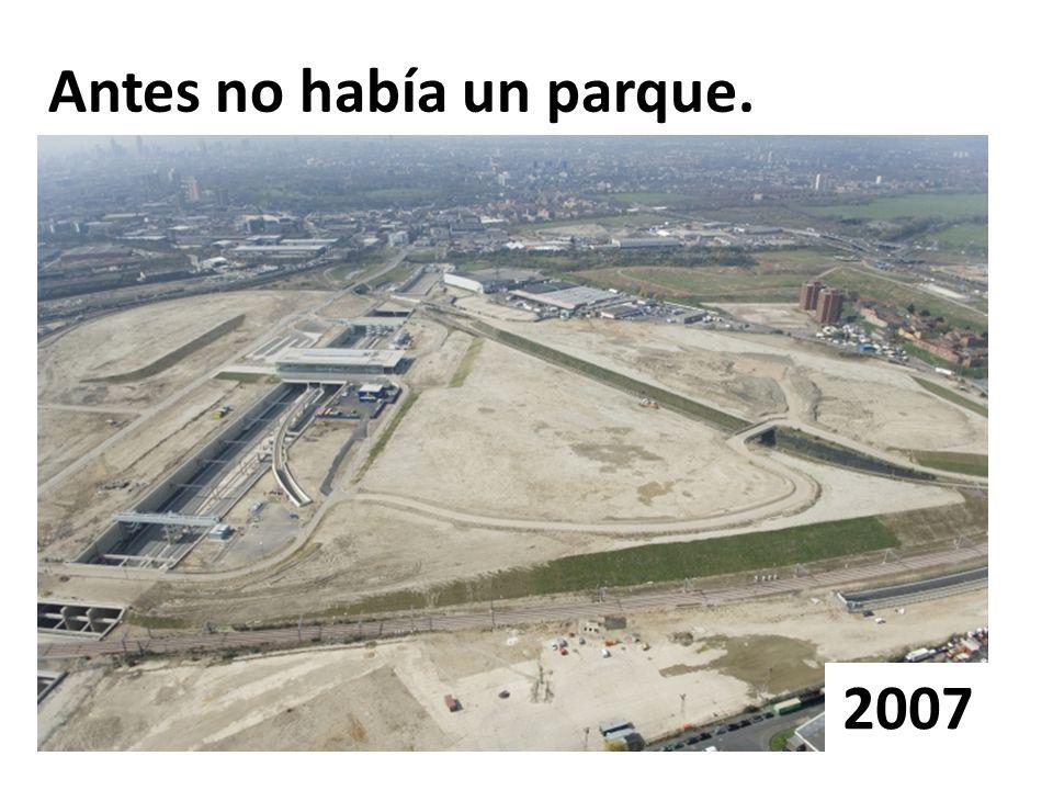 Antes no había un parque.