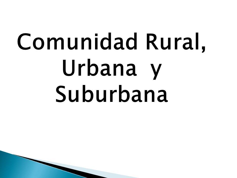 Comunidad Rural, Urbana y Suburbana