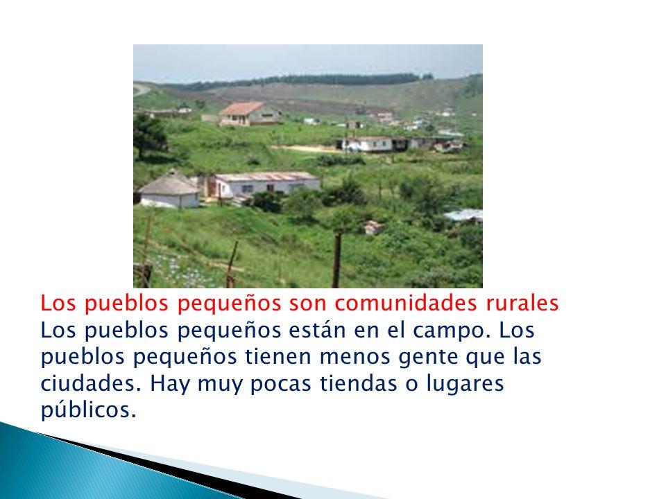 Los pueblos pequeños son comunidades rurales