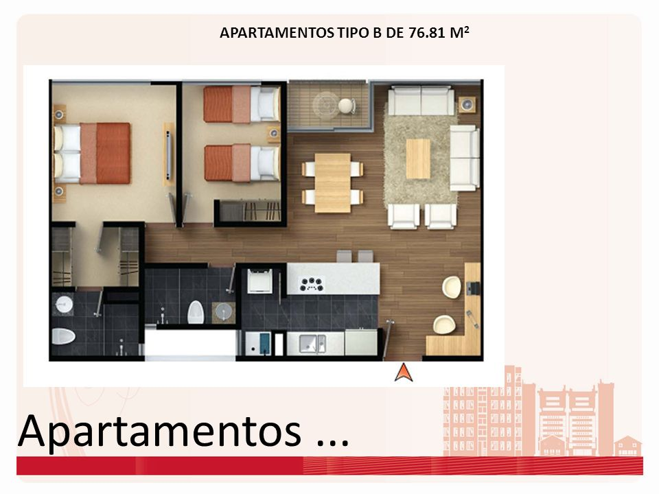 APARTAMENTOS TIPO B DE 76.81 M2
