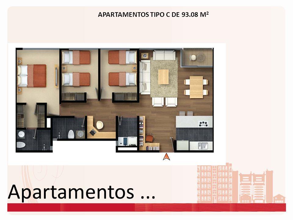 APARTAMENTOS TIPO C DE 93.08 M2