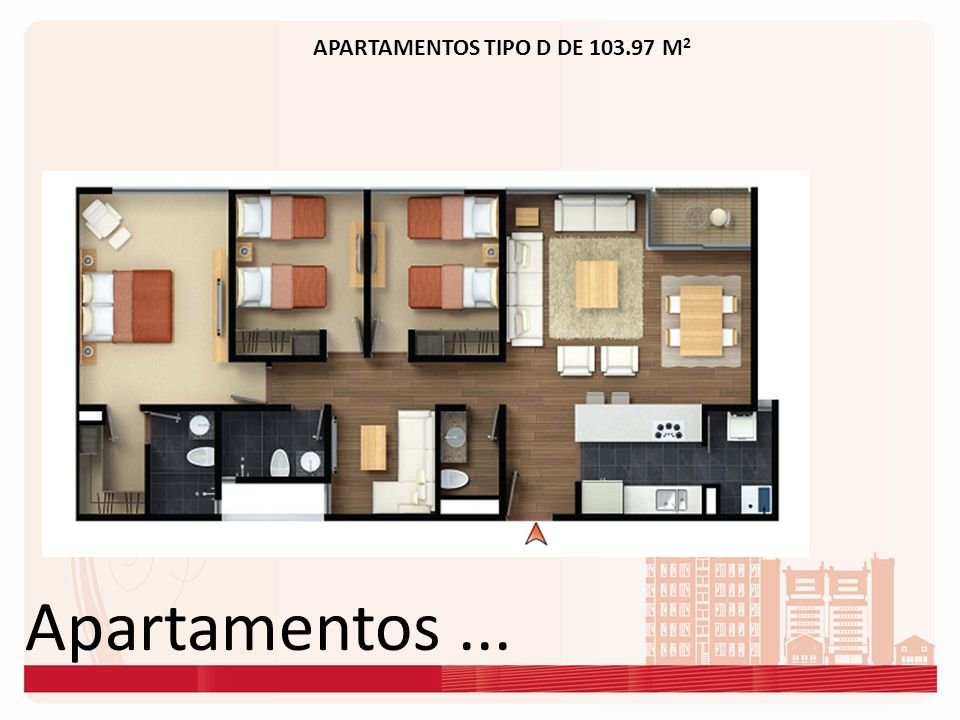 APARTAMENTOS TIPO D DE 103.97 M2