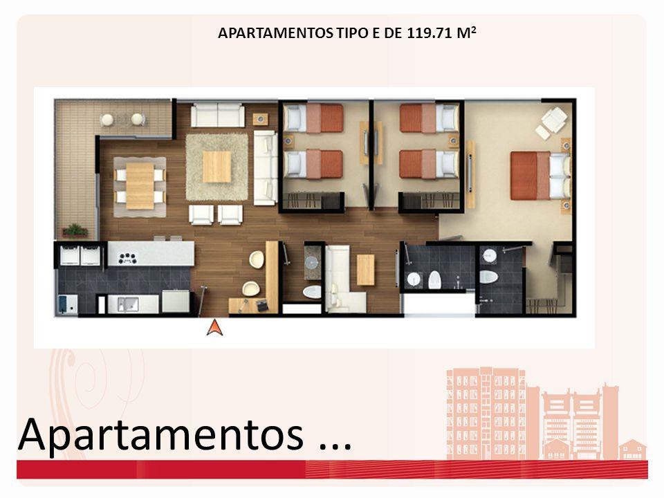 APARTAMENTOS TIPO E DE 119.71 M2
