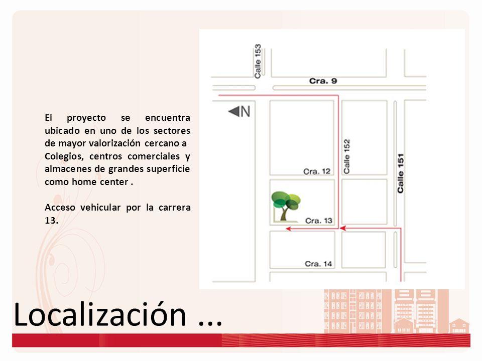 El proyecto se encuentra ubicado en uno de los sectores de mayor valorización cercano a