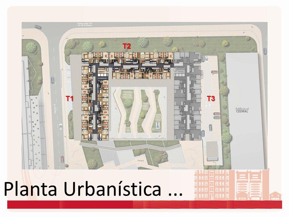 T2 T1 T3 Planta Urbanística ...