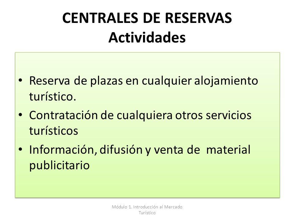 CENTRALES DE RESERVAS Actividades